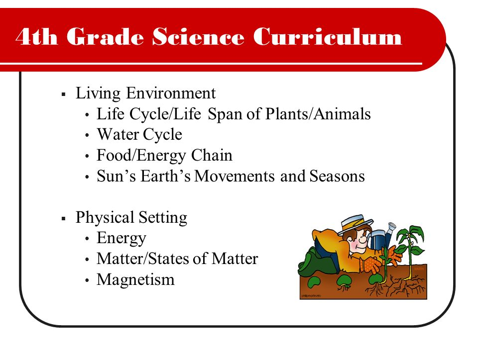 4th Grade Science Curriculum