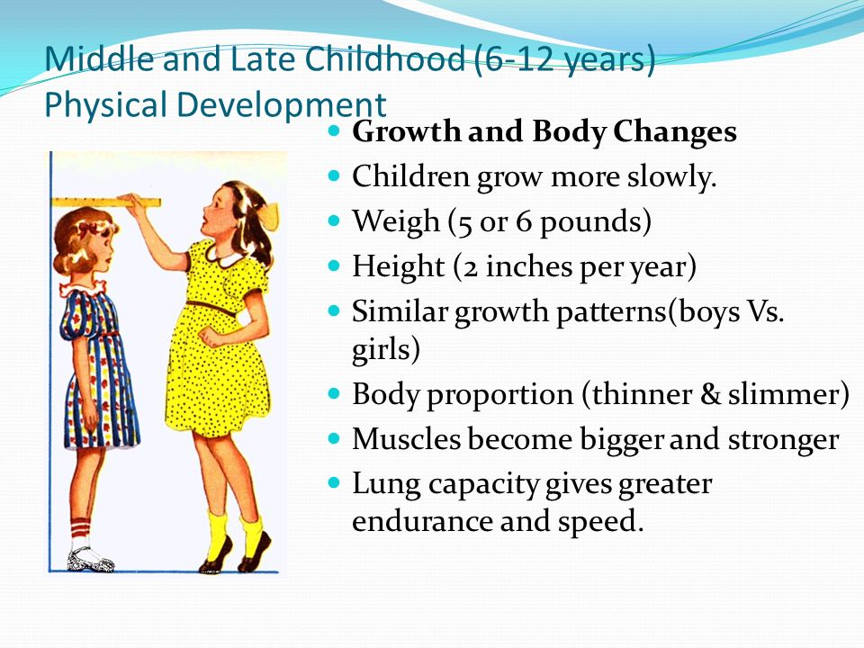 middle and late childhood essay What to typically expect as developmental milestone indicators from middle childhood (6-8 years of age).