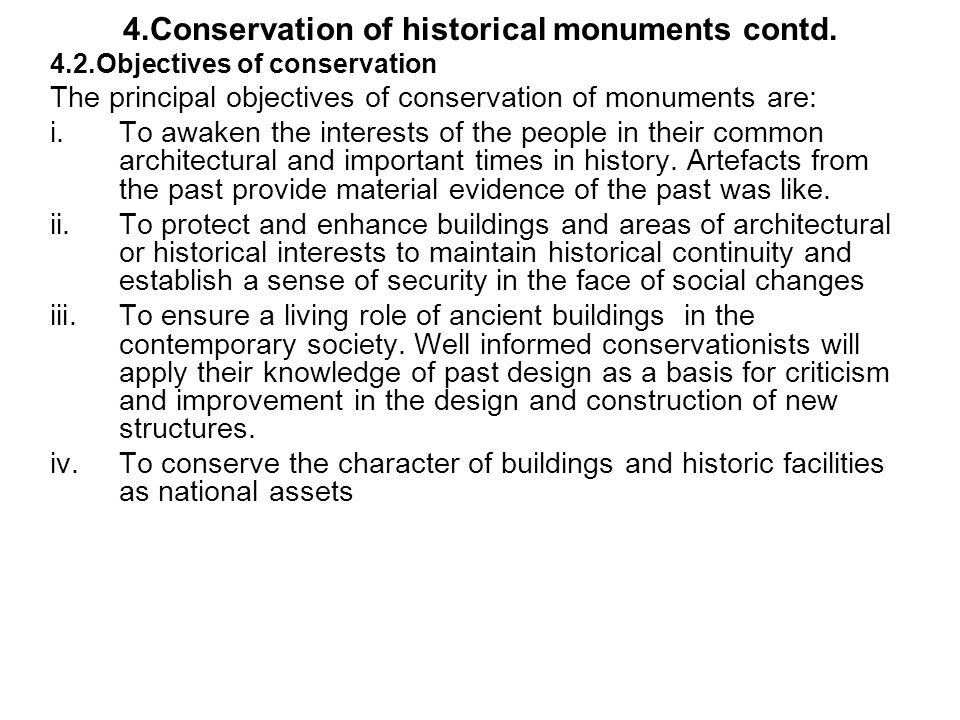 essay on conservation of historical monuments Architectural heritage is a volume of architectural history and conservation  articles, essays and other writings, covering all periods of building up to and  including.