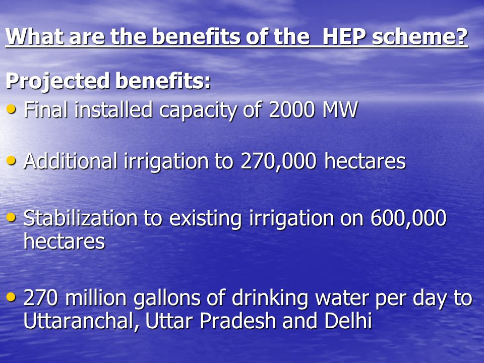 What are the benefits of the HEP scheme