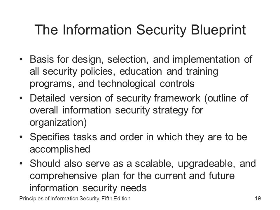 Principles of information security fifth edition ppt download the information security blueprint malvernweather Images