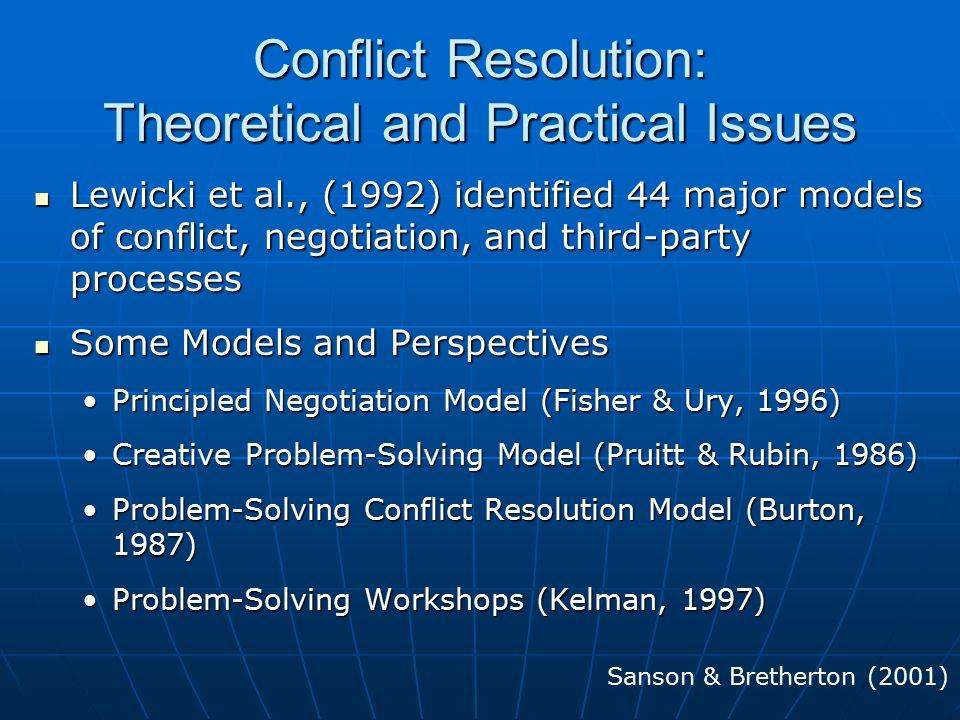 Effective Negotiation, Confrontation & Conflict Resolution