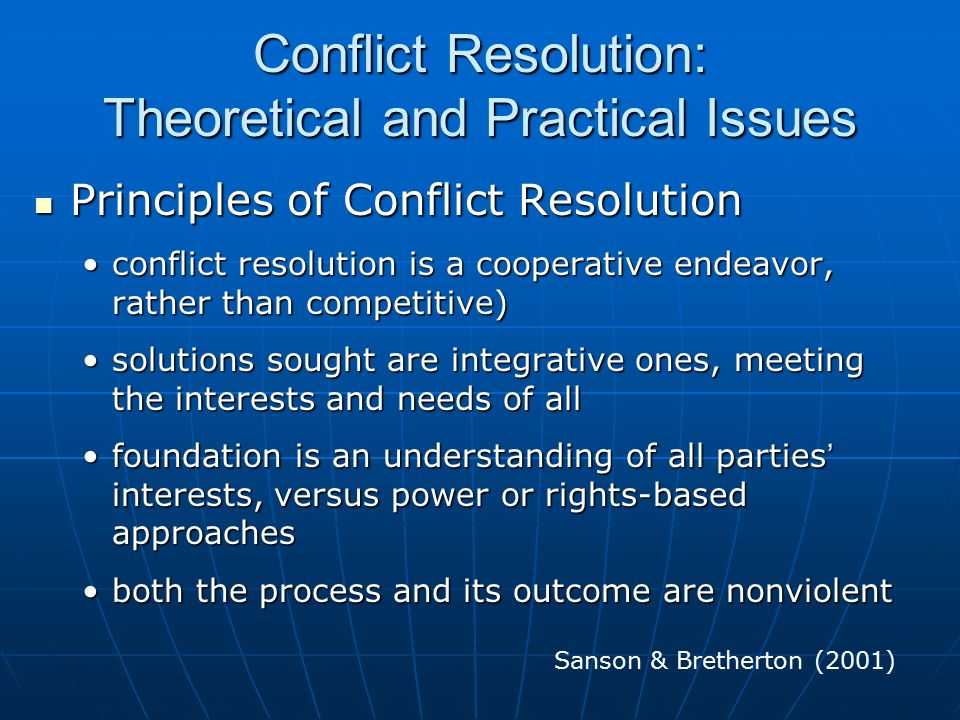the principles of power and conflict Here are 5 conflict resolution strategies that are more effective, drawn from research on negotiation and conflicts, to try out.