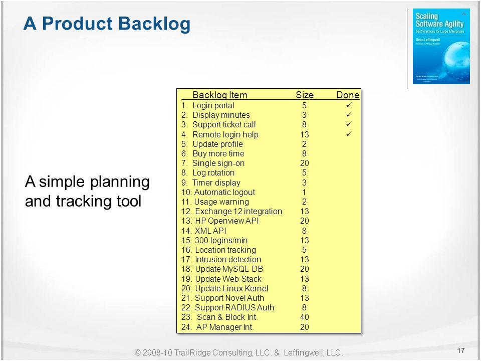 scrum planning tool