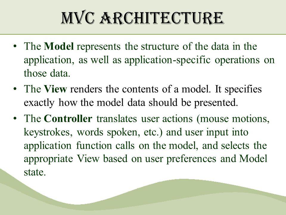 mvc architecture in java pdf