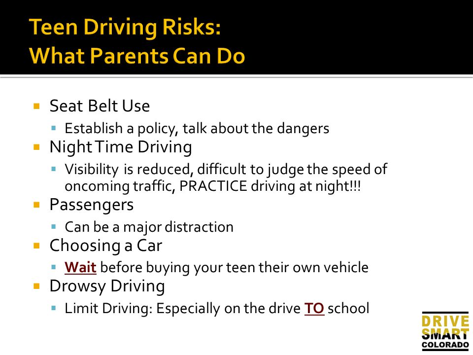 know about teen passengers