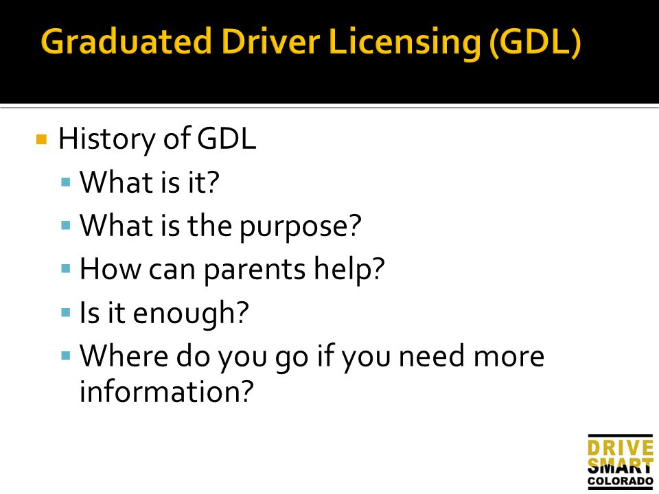 An analysis of the graduated driver licence law