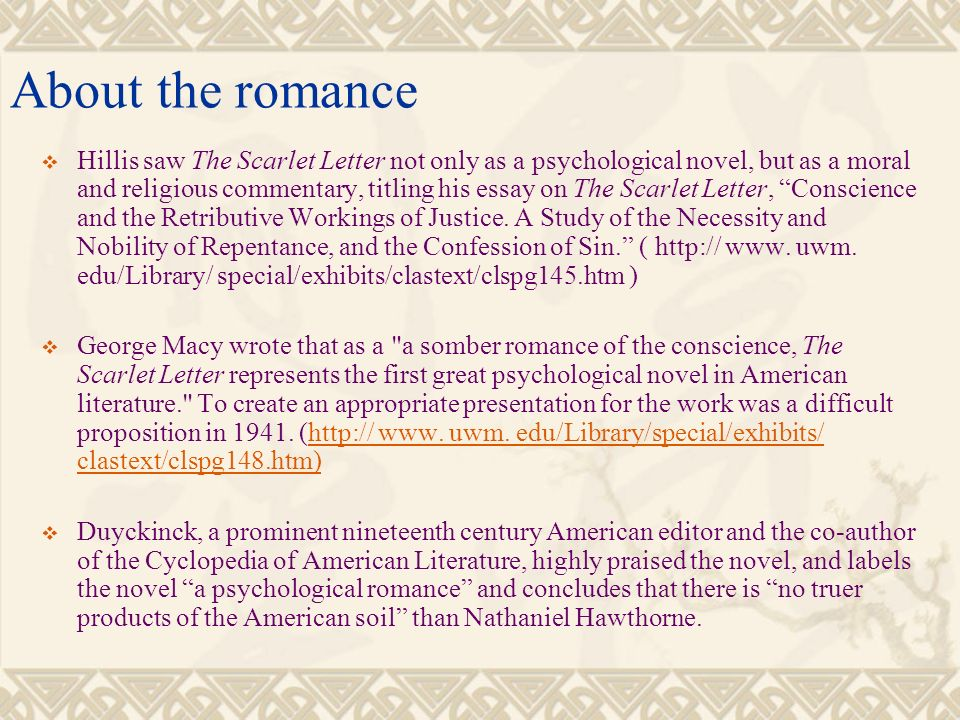the scarlet letter a psychological analysis