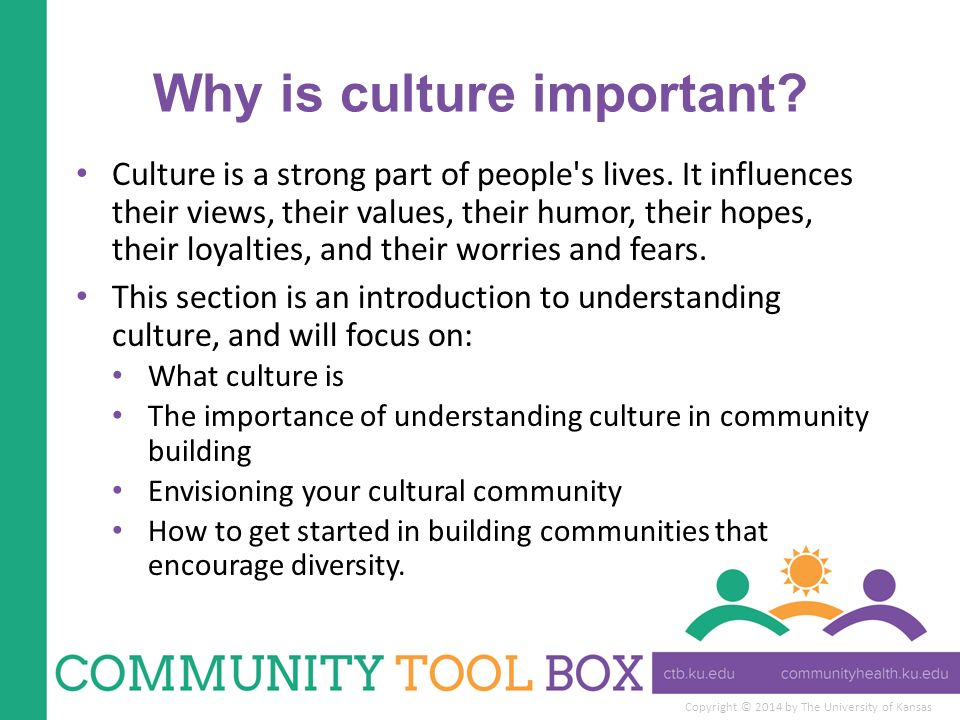 importance of understanding cultural ethnic and This understanding is key to developing mental health services that are more responsive to the cultural and social contexts of racial and ethnic minorities with a seemingly endless range of subgroups and individual variations, culture is important because it bears upon what all people bring to the clinical setting.