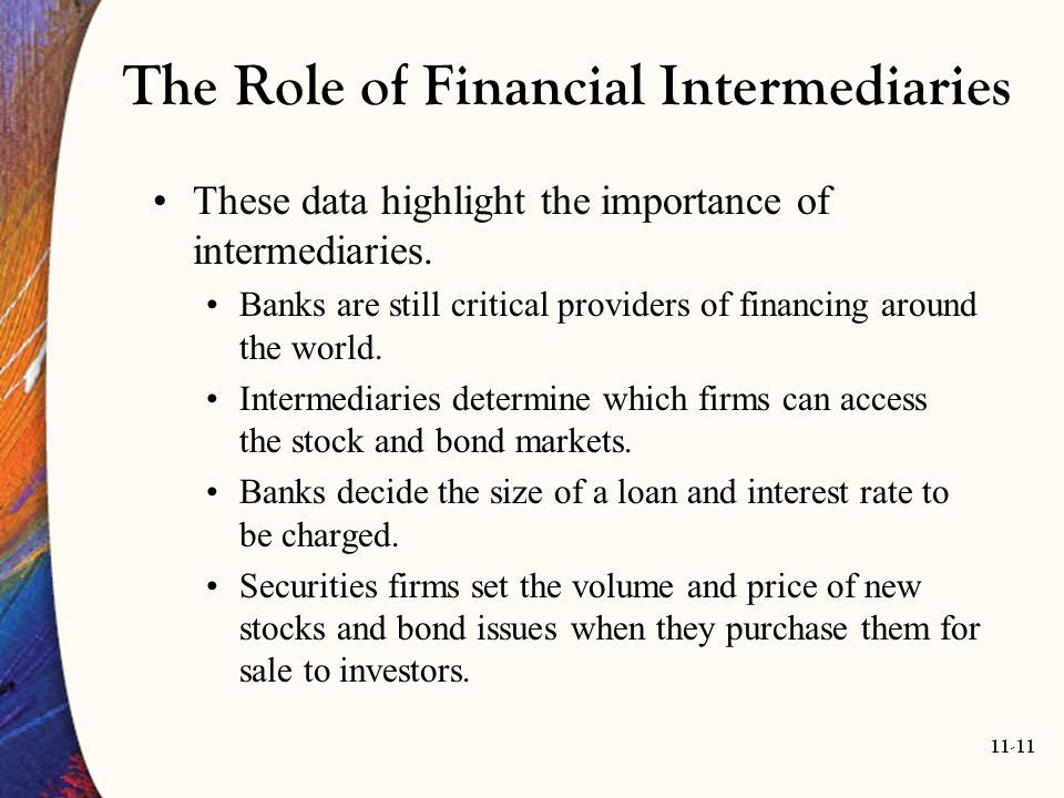 what are the economic functions financial intermediaries perform The economic functions performed by the first modern banks of  asset  transformation: financial intermediaries provide a link between the.