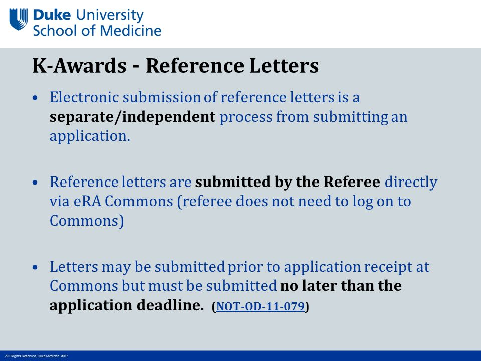Nuts and bolts of k award grant submission process ppt video 6 k awards reference letters spiritdancerdesigns Choice Image