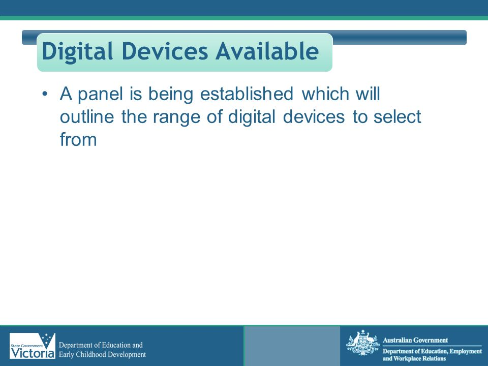 Digital Devices Available
