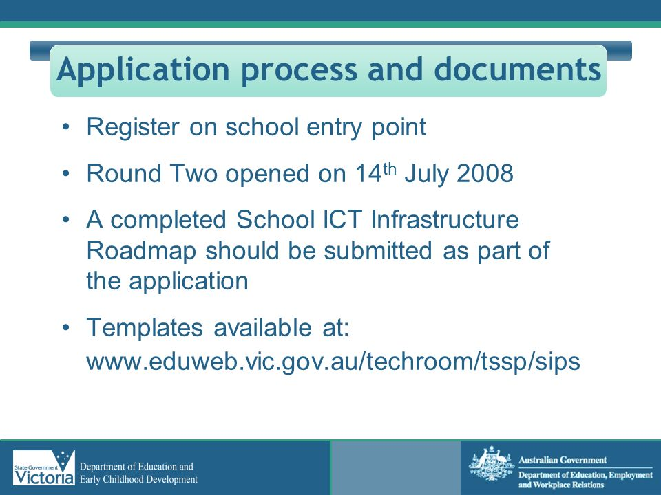 Application process and documents