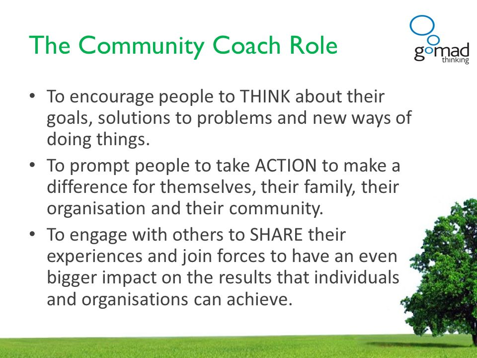 The Community Coach Role