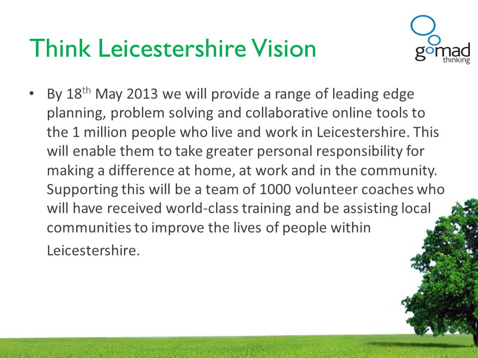 Think Leicestershire Vision