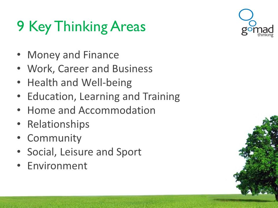 9 Key Thinking Areas Money and Finance Work, Career and Business