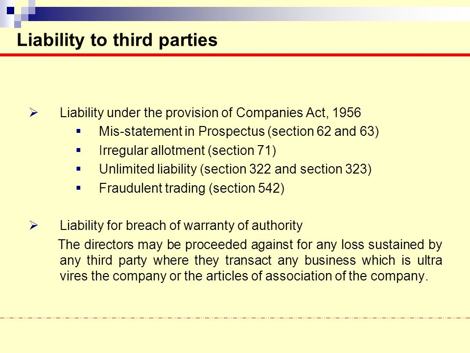 liabilities to 3rd parties The office of recovery performs third party functions in two ways: by avoiding medicaid payments when other commercial or public health insurance carriers should pay for a service and by recovering medicaid payments made prior to the identification of a legally-obligated third-party source.