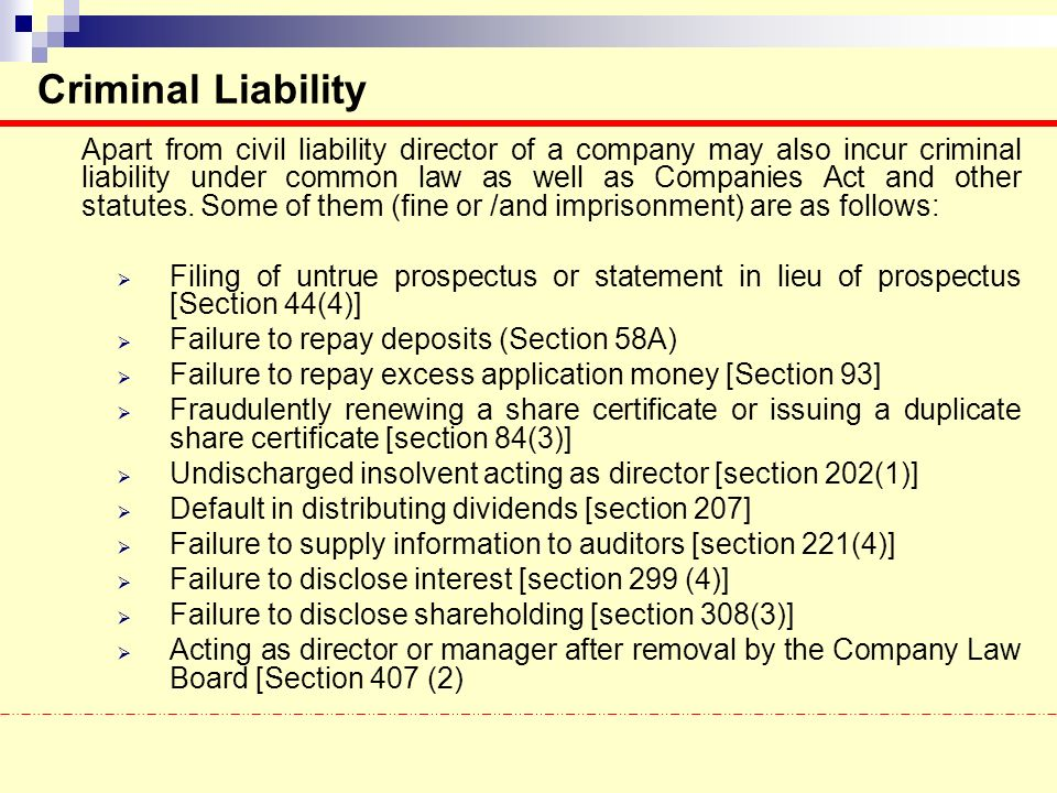Directors – Role, Responsibilities and Liabilities - ppt ...