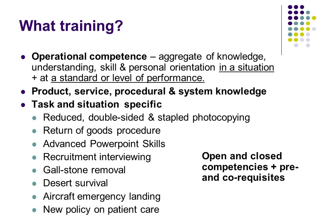 operational definition competence in nursing An operational definition of ipe will be used throughout this article ipe - through interdisciplinary education, health care professionals learn collaboratively within and across their disciplines in order to gain the knowledge, skills, and values required to work.
