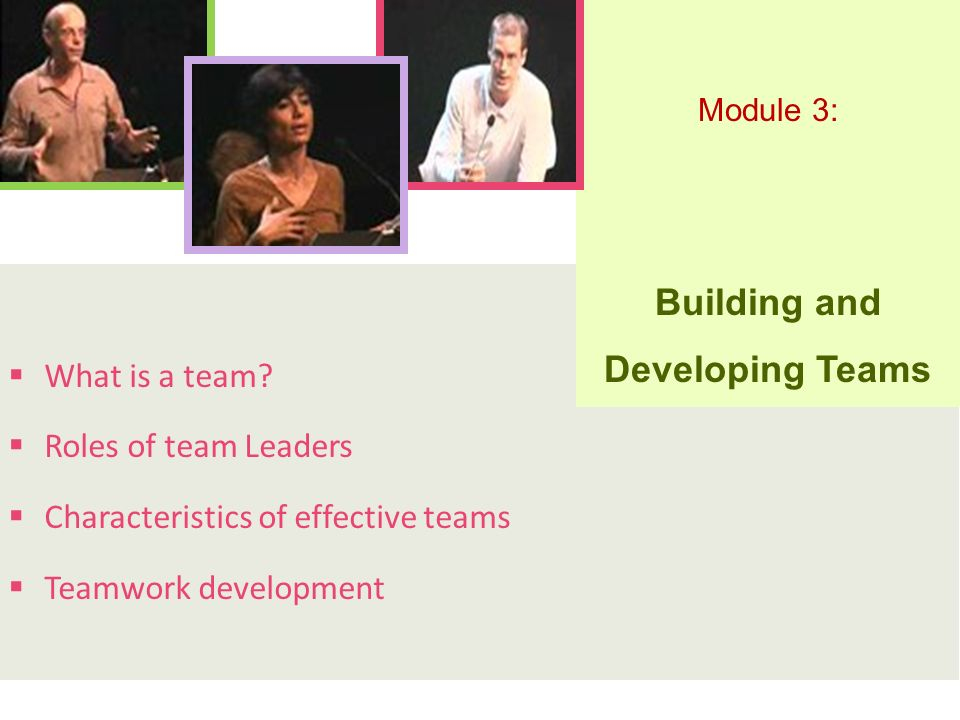 Building and Developing Teams