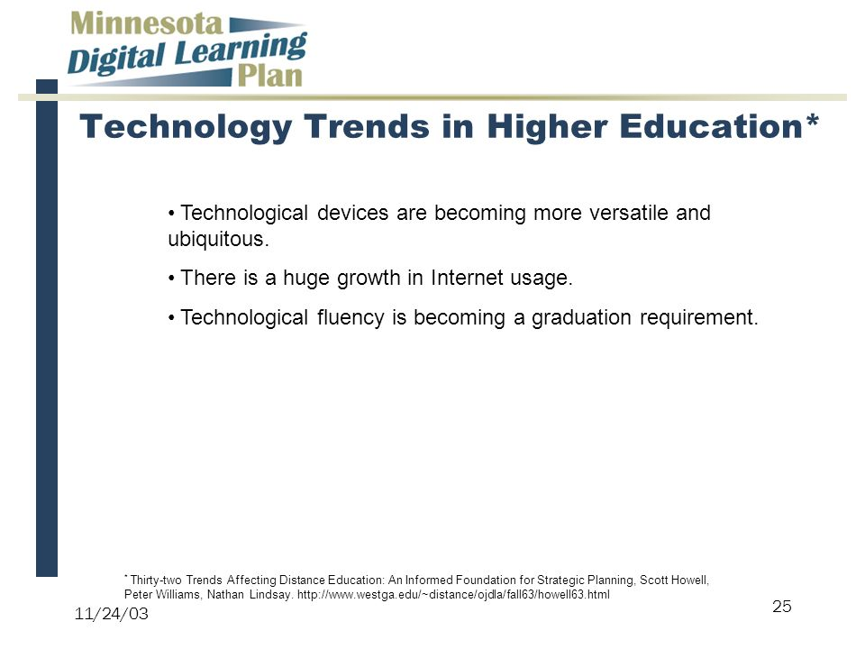 internet technology in higher education Internet and higher education volume 8, number 4, 2005 issn 1096-7516   and disadvantages of providing lecture notes: the role of internet technology .