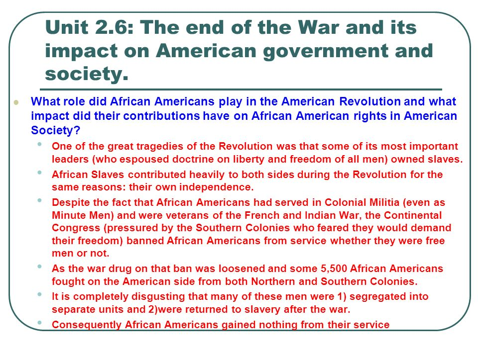 an analysis of the war and its effect on society Identify causes for post-world war ii prosperity and its effects on american society.