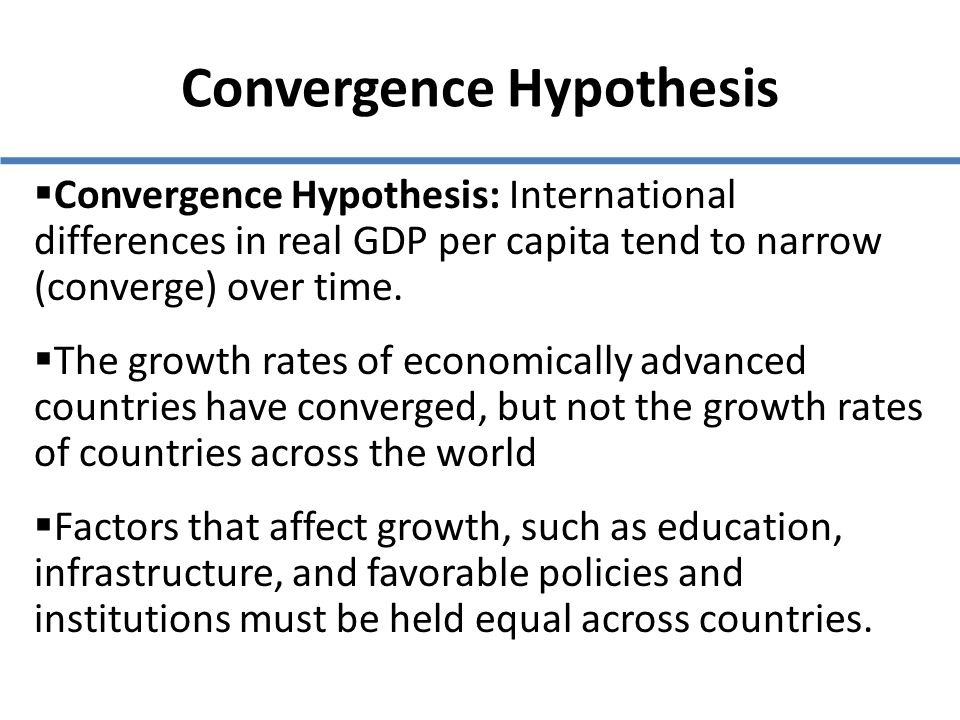 convergence thesis Abstract - a new phase in market competition in the service sector has developed  in denmark within the last 5 years, this has led to new behaviour by service.