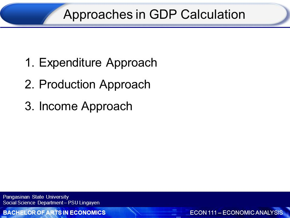 Approaches in GDP Calculation