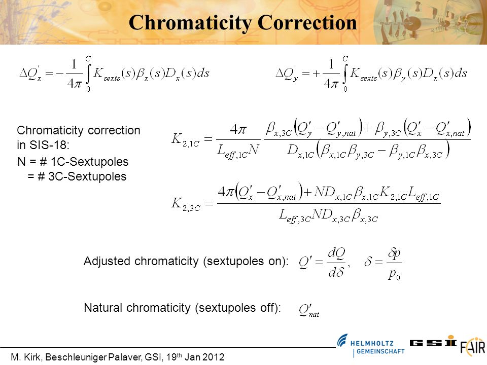 Chromaticity Correction