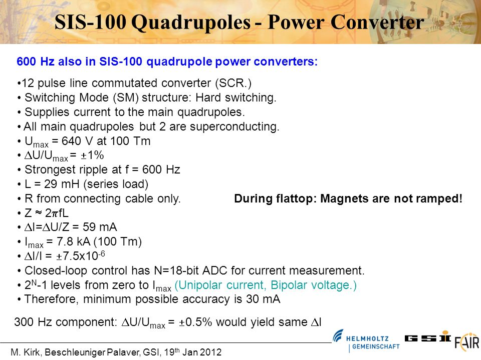 SIS-100 Quadrupoles - Power Converter