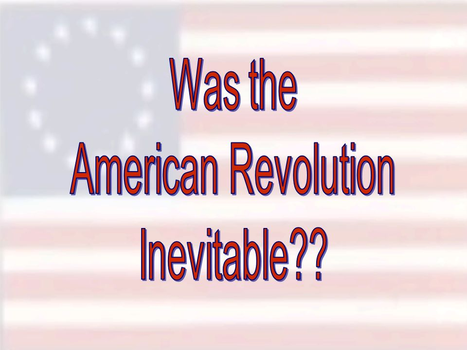 was the french revolution inevitable Citizens: a chronicle of the french revolution is a book by the historian  of man , and of the universalistic principles of the revolution which led to inevitable.