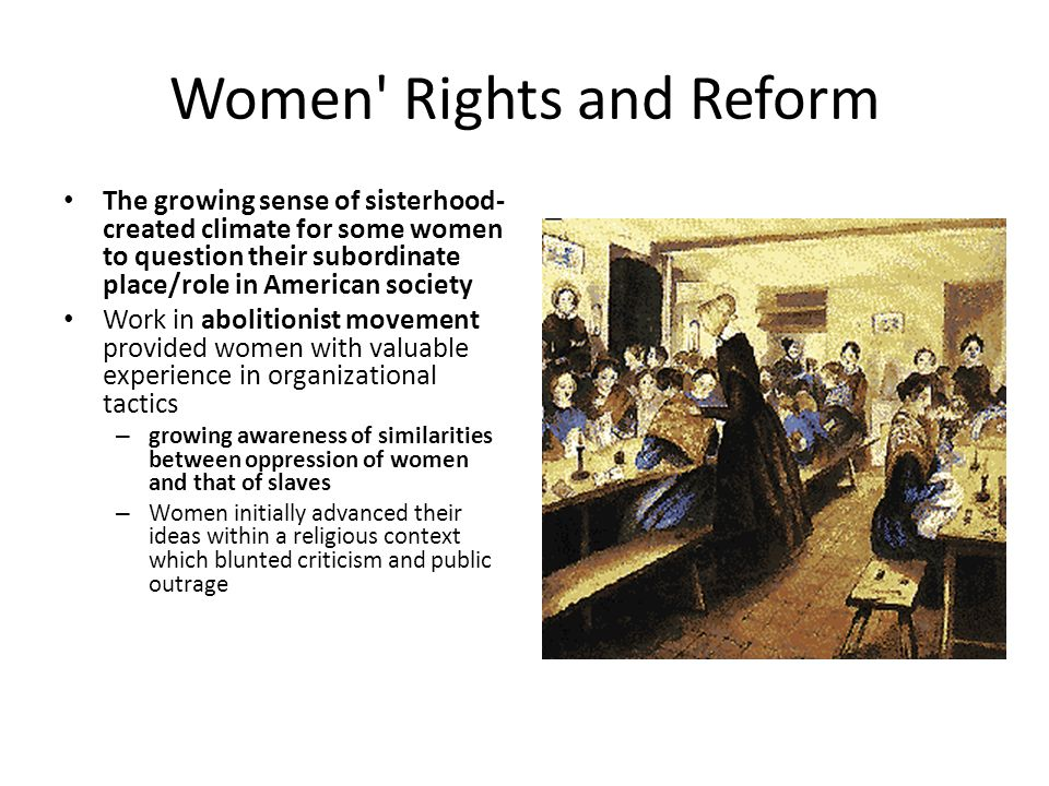 reform movements for abolition and womens rights essay While stone maintained visibility within the abolitionist and woman's rights   livermore agreed to merge her chicago-based reform paper, the agitator, into  the new  lucy stone was a key figure in the american woman's rights  movement for.