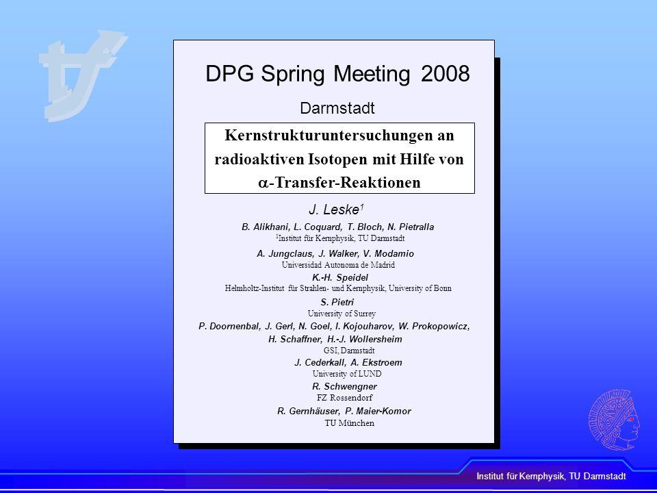 DPG Spring Meeting 2008 Darmstadt
