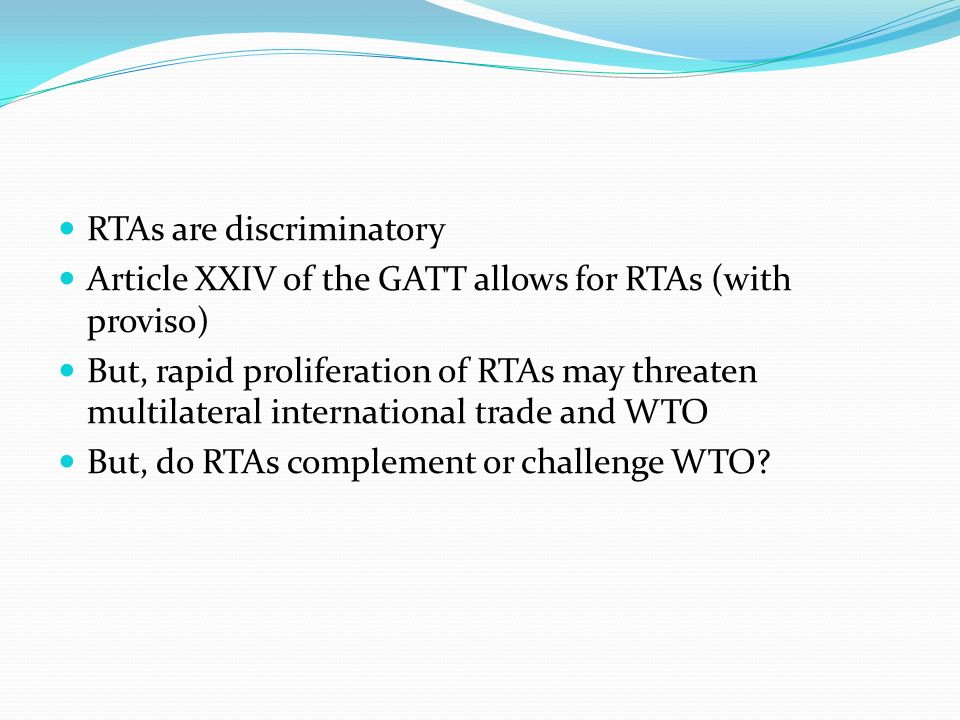 relationship between wto and rtas
