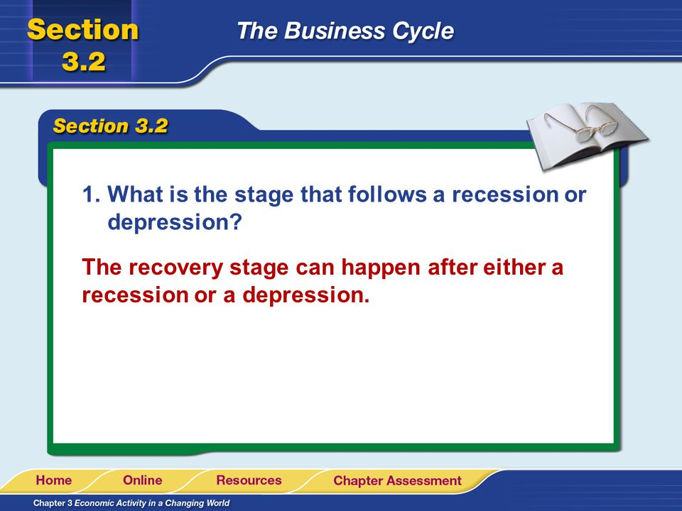 What is the stage that follows a recession or depression