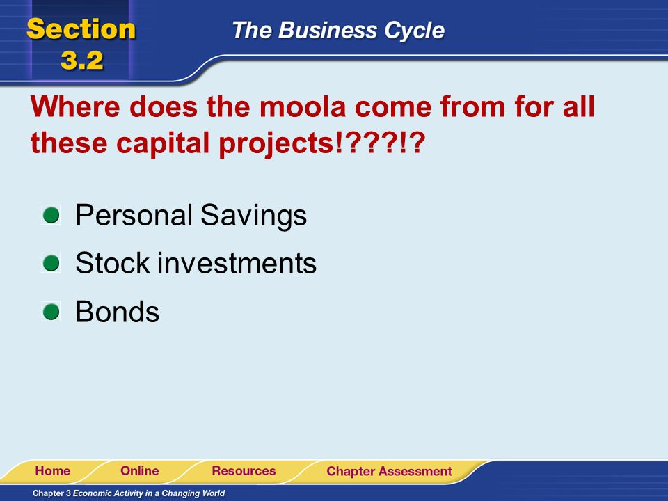 Where does the moola come from for all these capital projects! !