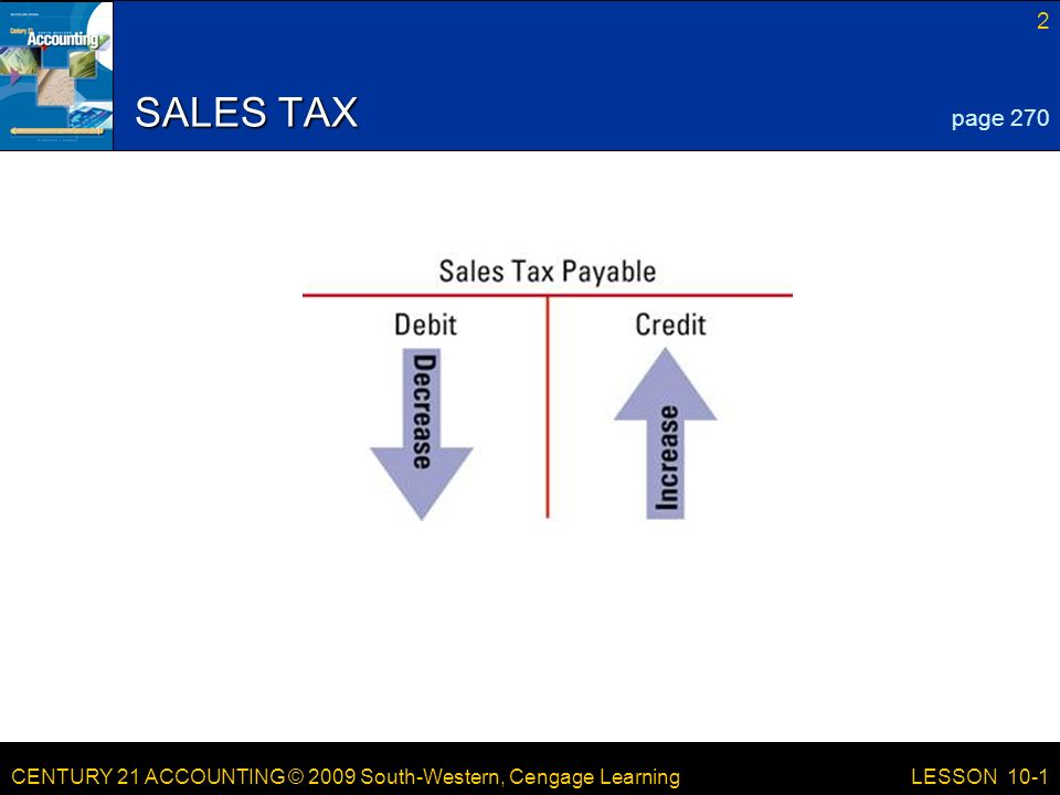 LESSON /21/2017 SALES TAX page 270 LESSON 10-1