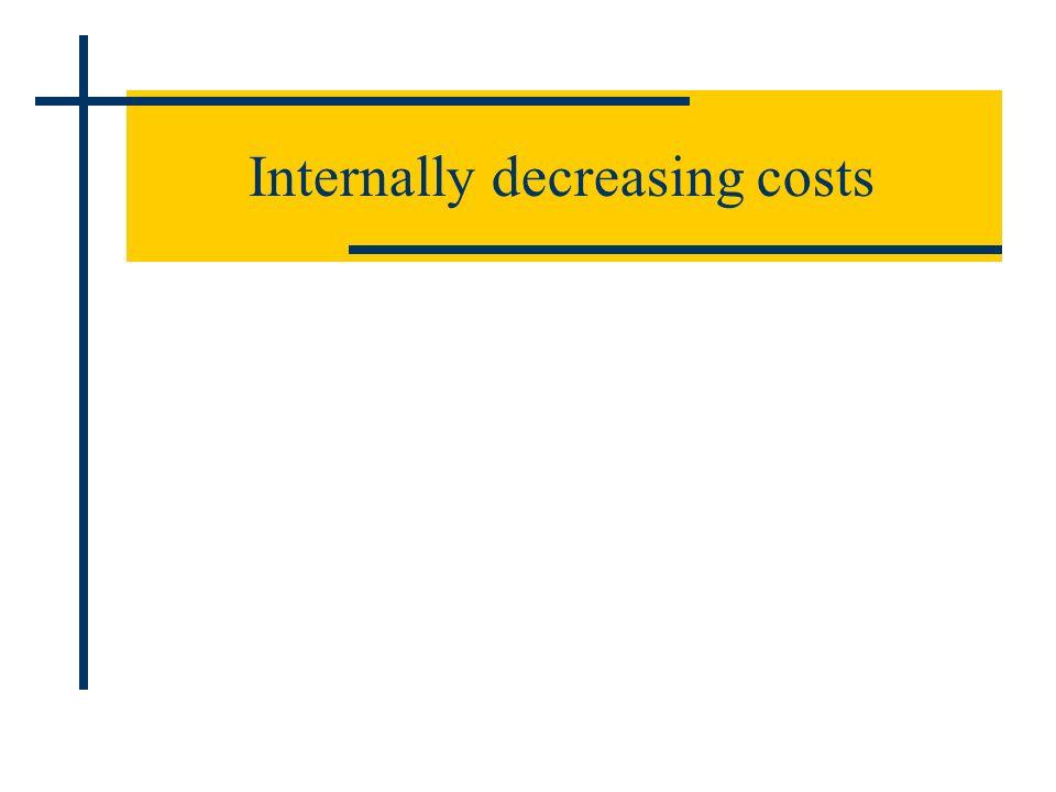 Internally decreasing costs