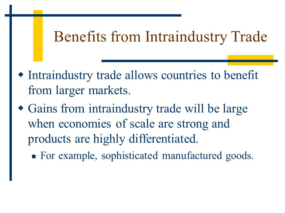 Benefits from Intraindustry Trade