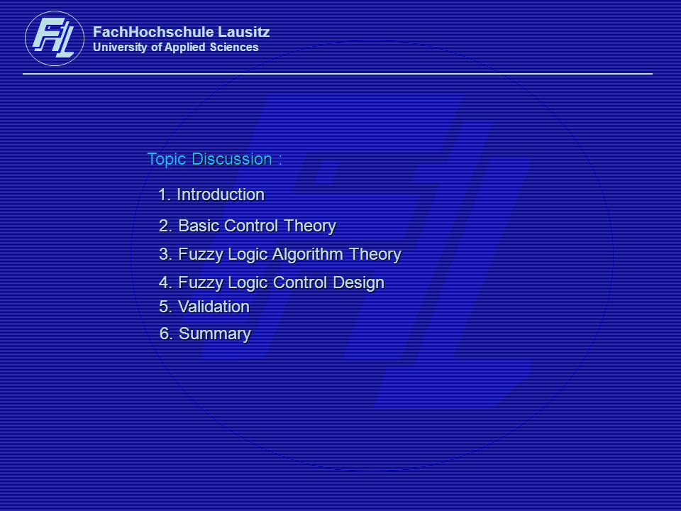 3. Fuzzy Logic Algorithm Theory