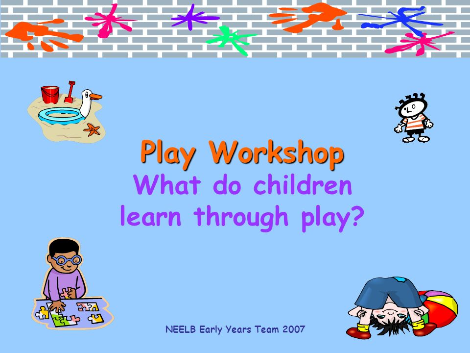 do children learn through play essay Discusses the importance of the group environment on a child's  children and learning through either deliberate  concepts do infants and toddlers learn.