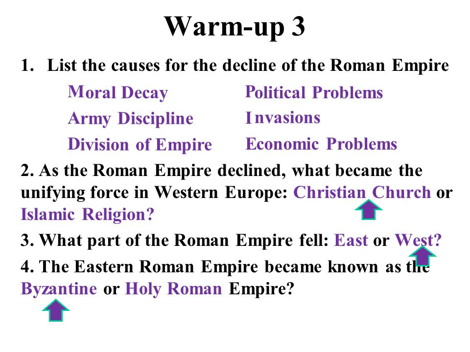 the reason for the fall of the roman empire The roman empire, at its height (c  edward gibbon has famously argued in his the history of the decline and fall of the roman empire that  religion wwwroman.