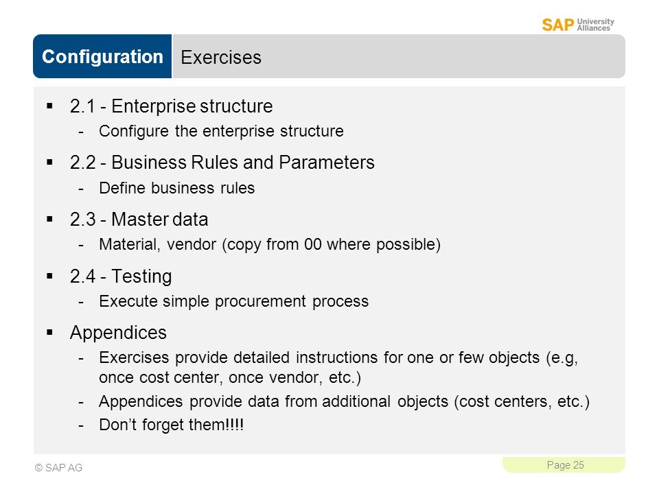 2.1 - Enterprise structure Business Rules and Parameters