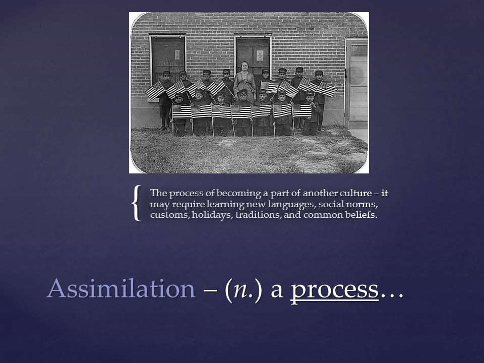 an analysis of the process of assimilation of language and culture in the united states Assimilation is an intense process of consistent integration whereby individual members of an ethno-cultural group, typically immigrants, or other minority groups.
