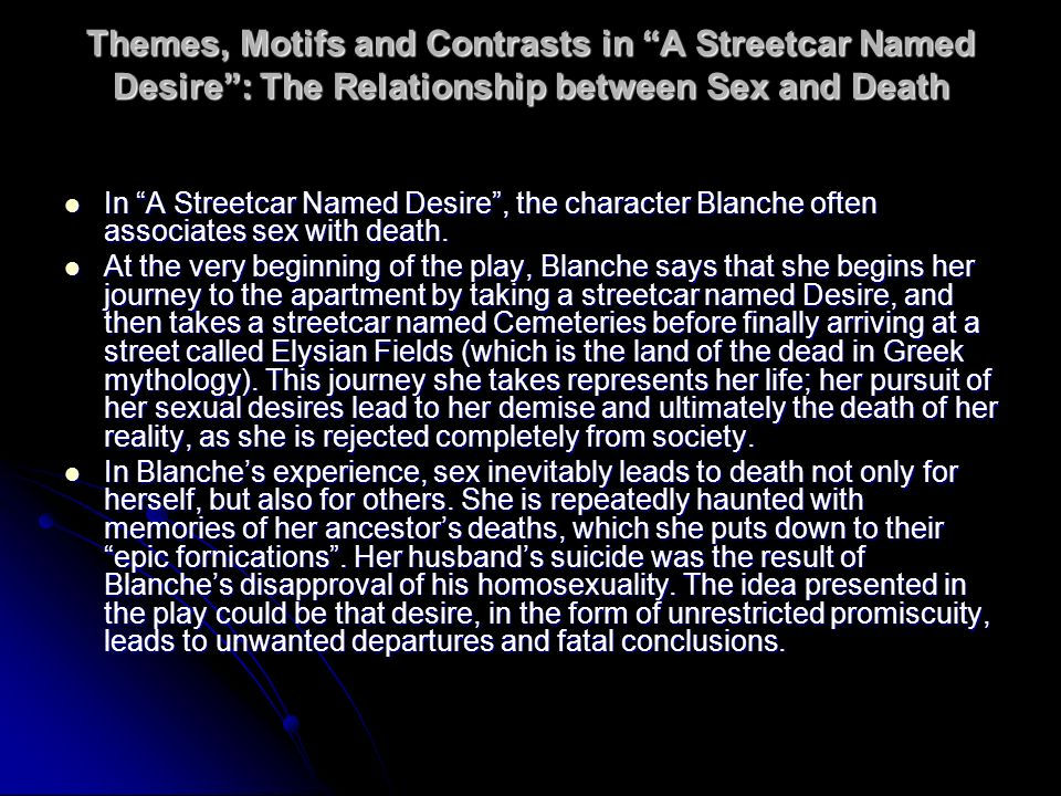 in what ways can a streetcar named desire be seen as a modern tragedy essay To what extent can blanche dubois be considered a her to be seen in this way aristotle defined 'tragedy a streetcar named desire be called a tragedy.