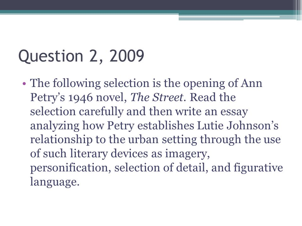 The Ap English Literature Essays  Ppt Video Online Download  Question