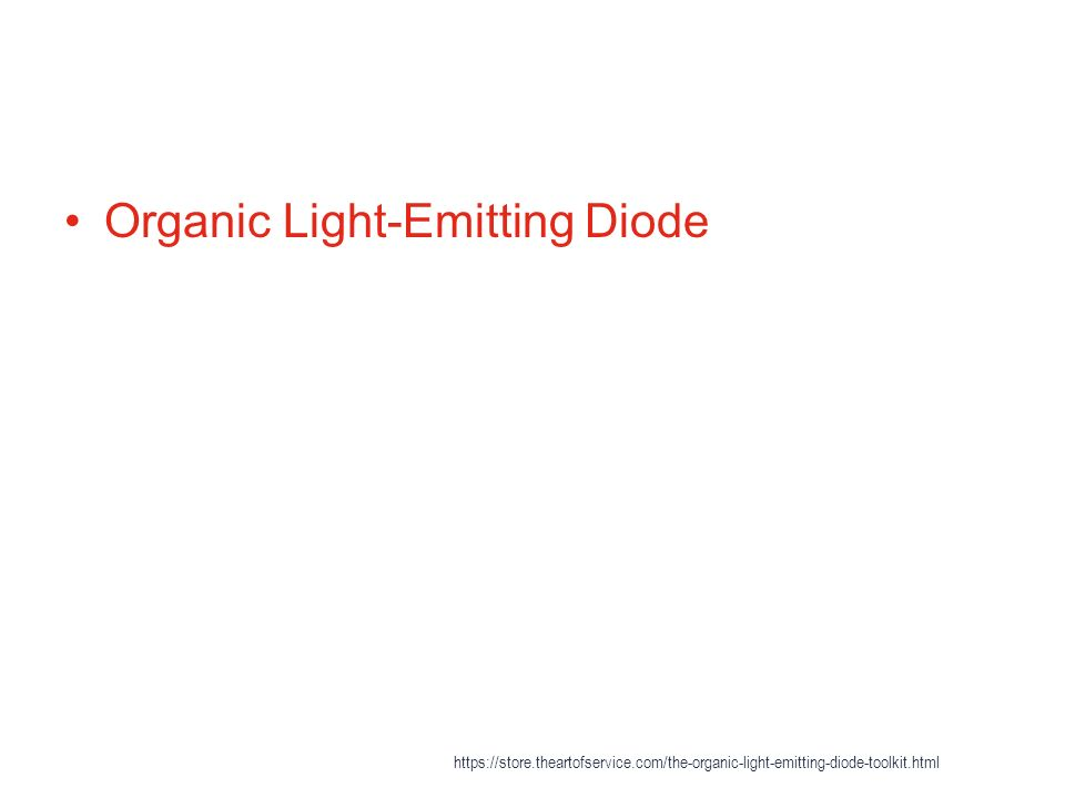 organic light emitting diode An organic light emitting diode with active-matrix provides addressing of individual pixels, and each pixel can be controlled directly browse full research report with toc on .