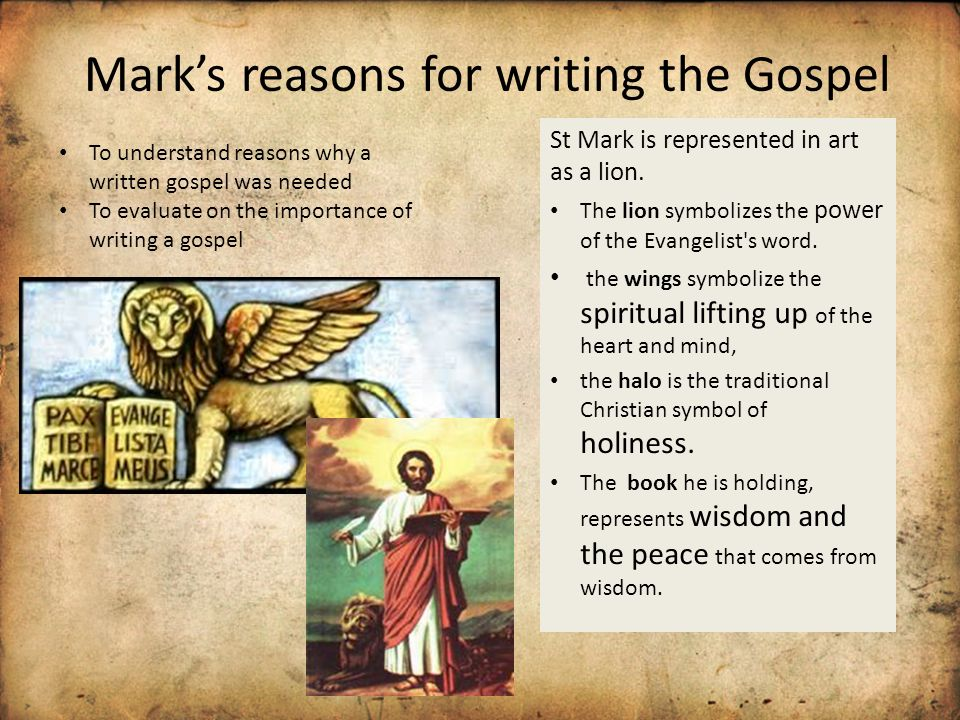 how the gospels were written essay Were they interdependent  the use of written fragments  this theory assumes that the authors of the synoptic gospels made use of oral tradition,.