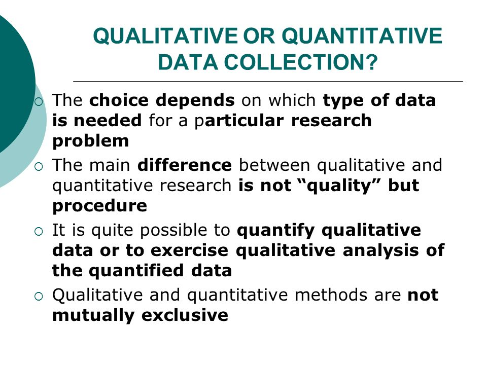 data analysis approach in quantitative research Analysis of qualitative data by dr marilyn simon excerpted from simon, m k (2011) dissertation and scholarly research: recipes for success (2011 ed.
