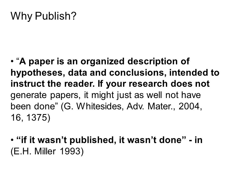 publish your research paper How to publish your journal paper the catch 22 in research publishing is that few authors work while academic wisdom [says] 'publish or perish.